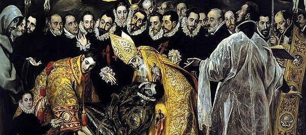 El Greco. El entierro del Conde Orgaz, 1586-1588. Iglesia de Santo Tomé, Toledo