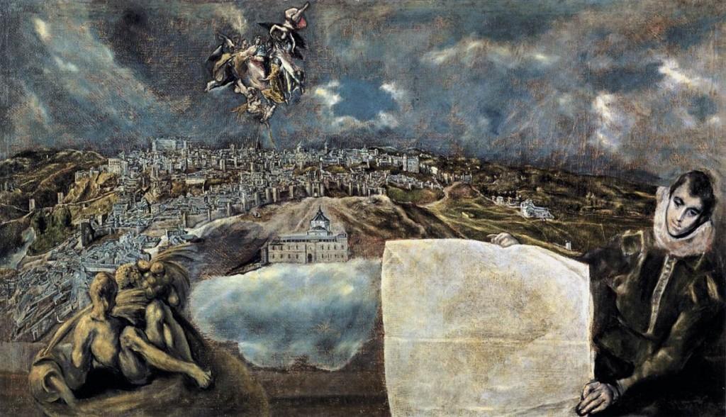 El Greco. Vista y plano de Toledo, hacia 1610-1614. Casa y Museo de El Greco