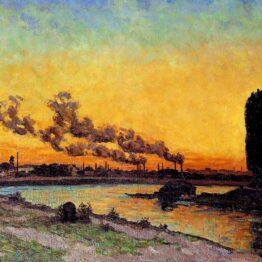Armand Guillaumin. Puesta de sol en Ivry, hacia 1873. Musée d´ Orsay