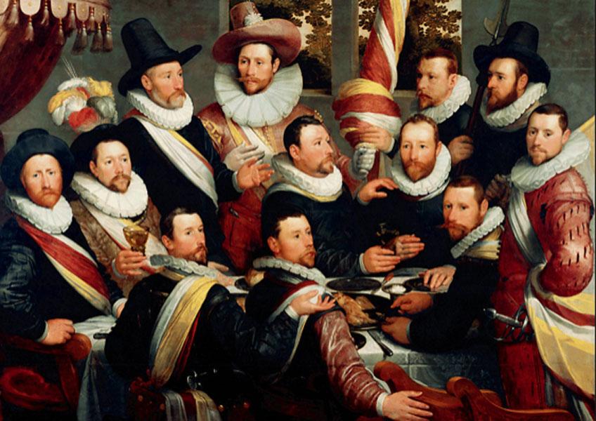 Frans Hals. Banquete de los arcabuceros de San Jorge de Haarlem, 1616. Museo Frans Hals, Haarlem