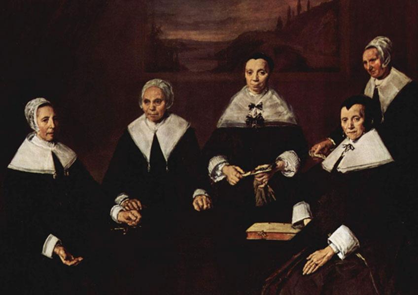 Frans Hals. Las regentes del asilo de ancianos, 1664. Museo Frans Hals, Haarlem