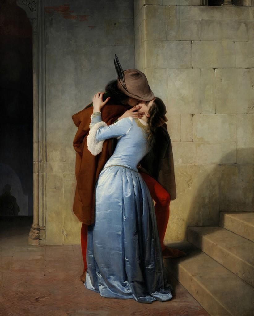 Francesco Hayez. El beso, 1859