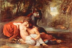 Francesco Hayez. Amores de Rinaldo y Armida, 1812-1813