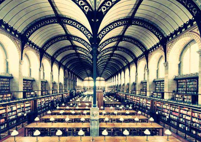 Henri Labrouste. Biblioteca de Santa Genoveva, París, 1840