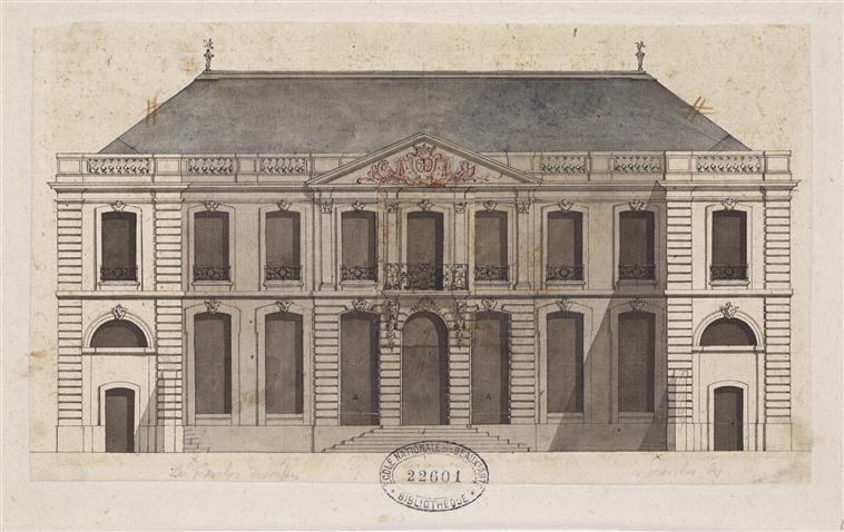 Alzado del Hôtel Amelot, 1710-1713