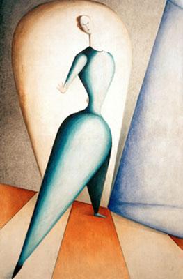 Oskar Schlemmer. El bailarín/El gesto, 1922-1923. Staatsgalerie Moderner Kunst, Múnich