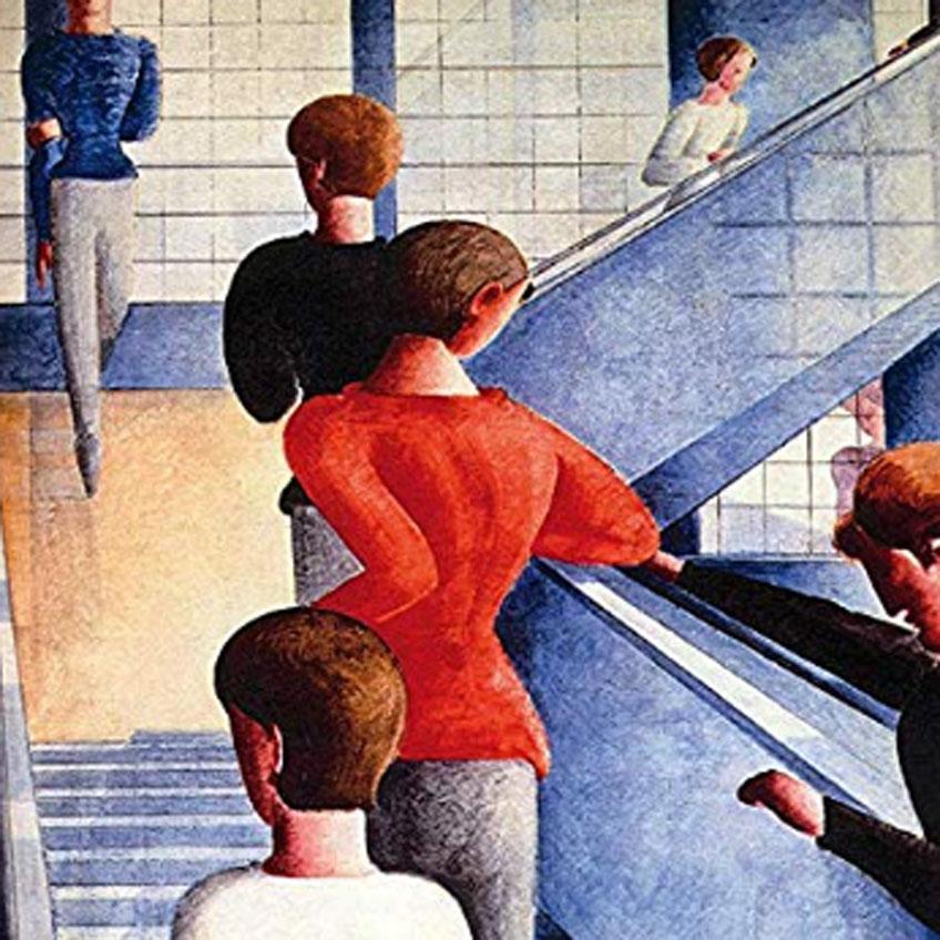 Oskar Schlemmer. Escalera de la Bauhaus, 1932. MoMA, Nueva York