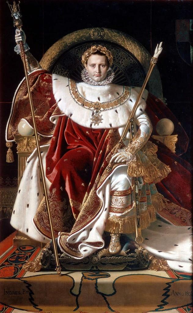 Pintores del Romanticismo. Ingres. Napoleón en el trono imperial, 1806