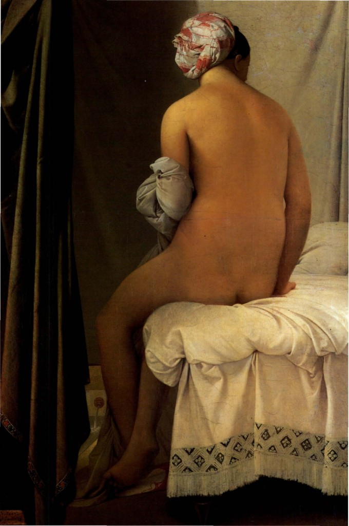 Pintores del Romanticismo. Ingres. Bañista Valpinçon, 1808