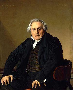 Pintores del Romanticismo. Ingres. Retrato de Monsieur Bertin, 1832