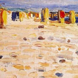 Kandinsky. Sillones de playa en Holanda, 1904. Städtische Galerie im Lenbachhaus, Múnich