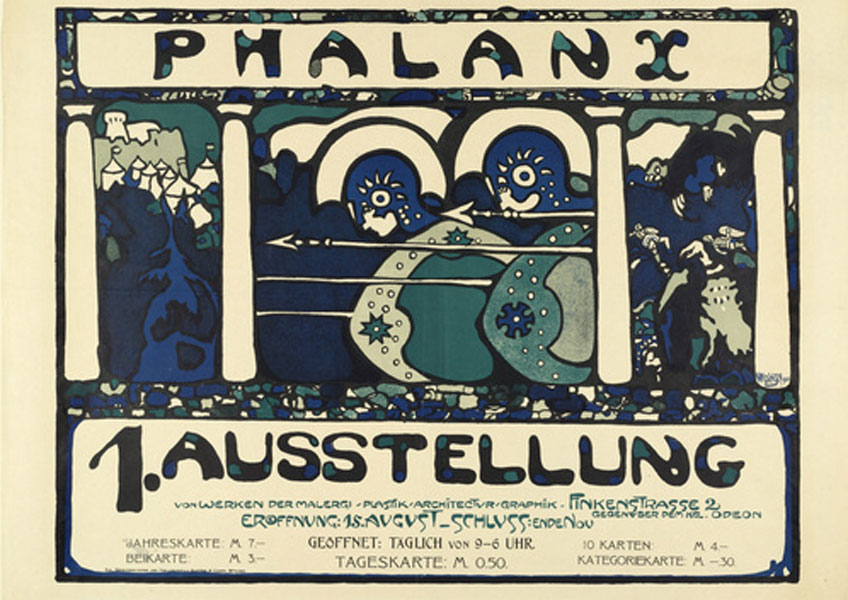 Kandinsky. Cartel de la I Exposición de Phalanx, 1901. Städtische Galerie im Lenbachhaus, Múnich