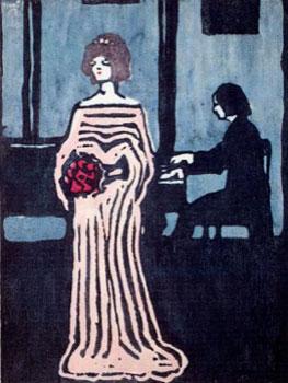 Kandinsky. La cantante, 1903. Städtische Galerie im Lenbachhaus, Múnich