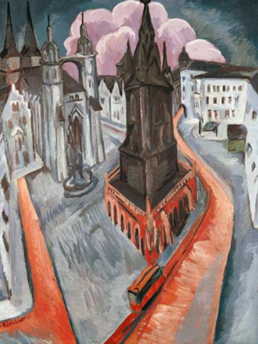 Kirchner. La torre roja en Halle, 1915. Museum Folkwang, Essen