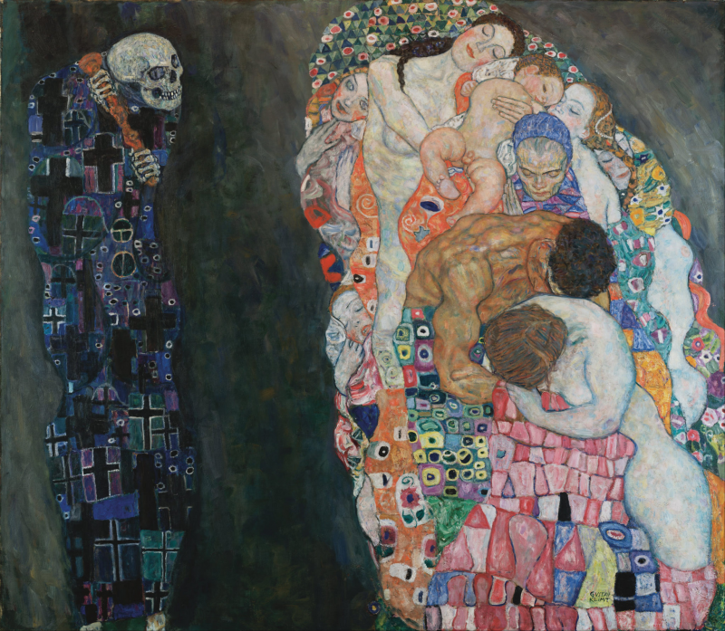 Gustav Klimt. Muerte y vida, 1916