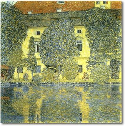 Gustav Klimt. Palacio Kammer a orillas del lago Atter III, 1910. Österreichische Galerie Wien