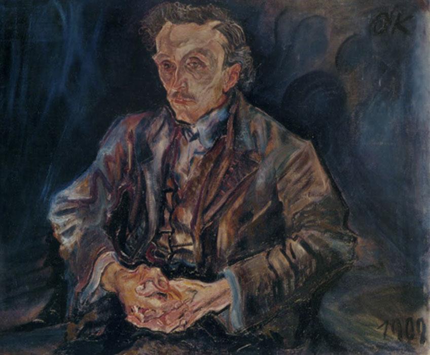 Oskar Kokoschka. Retrato de Adolf Loos, 1909. Schloss Charlottenburg, Berlín