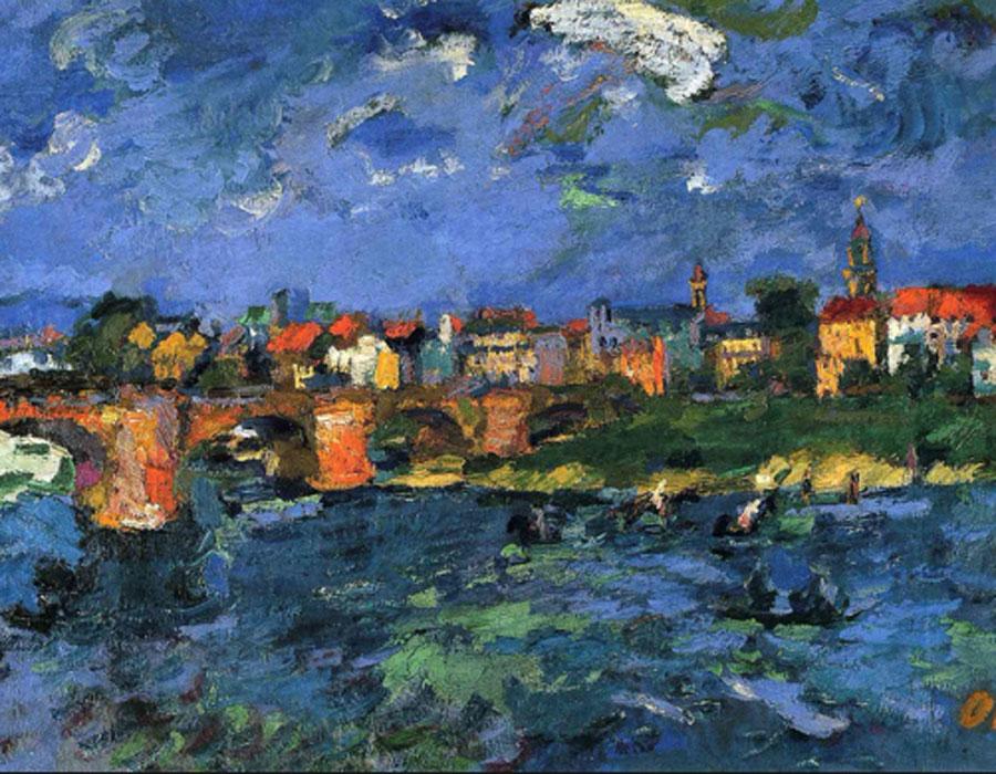 Oskar Kokoschka. Dresden Neustadt, 1922. Hamburger Kunsthalle