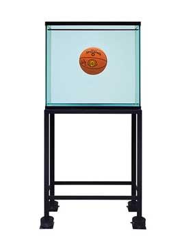 Jeff Koons. Acuario con un balón en perfecto equilibrio, 1985