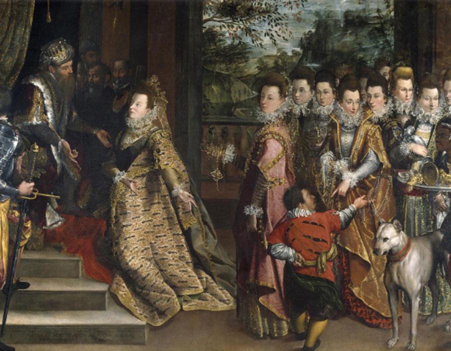 Lavinia Fontana. Visita de la reina de Saba al rey Salomón, hacia 1600. National Gallery of Ireland