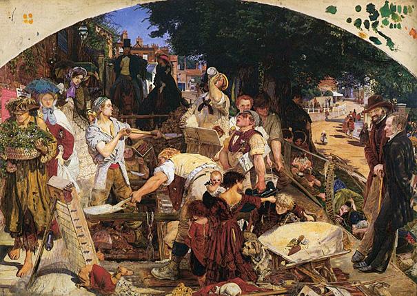 Madox Brown. El trabajo, 1852-1855