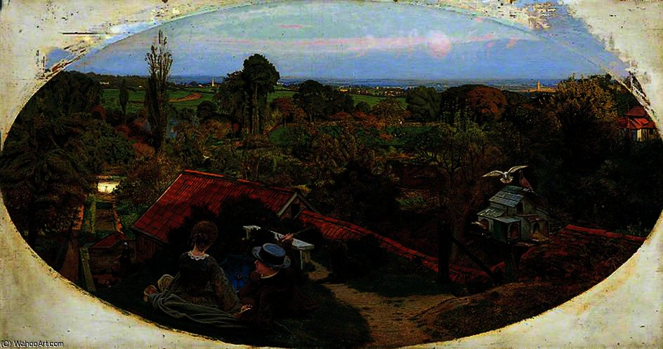 Madox Brown. Atardecer del otoño inglés, 1852-1854