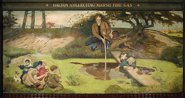 Madox Brown. Dalton recogiendo metano