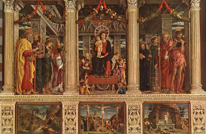 Mantegna. Retablo de san Zenón, 1457. Basilica de San Zenón