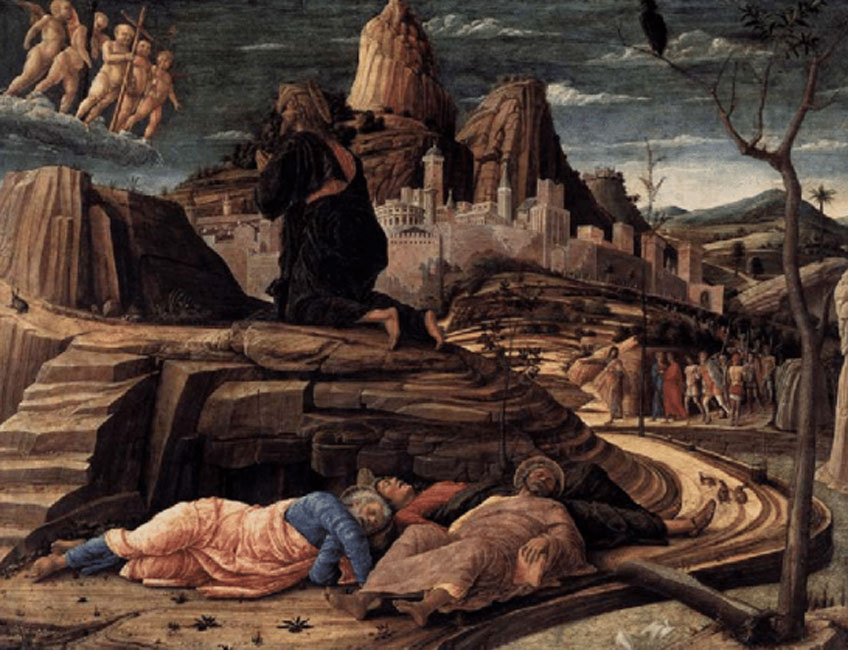 Andrea Mantegna. Oración en el huerto, 1455. National Gallery, Londres