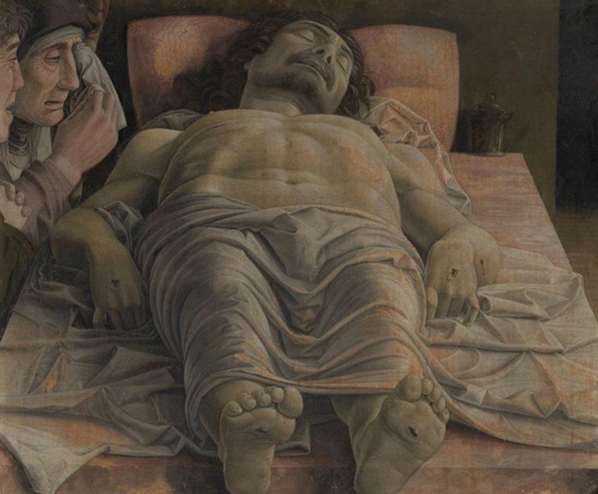 Mantegna. Lamentación sobre Cristo muerto, 1480-1490. Pinacoteca de Brera