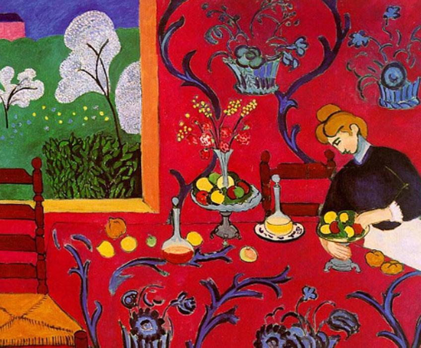 Matisse. Armonía en rojo, 1918. Museo Hermitage, San Petersburgo