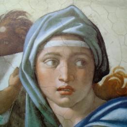 Miguel Ángel Buonarroti. La sibila de Delfos, 1509. Capilla Sixtina