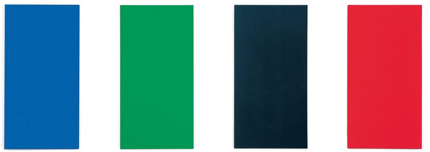 Ellsworth Kelly. Blue Green Black Red, 1996