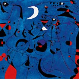Joan Miró. Personajes en la noche guiados por los rastros fosforescentes de los caracoles,, 1940. Serie Constelaciones