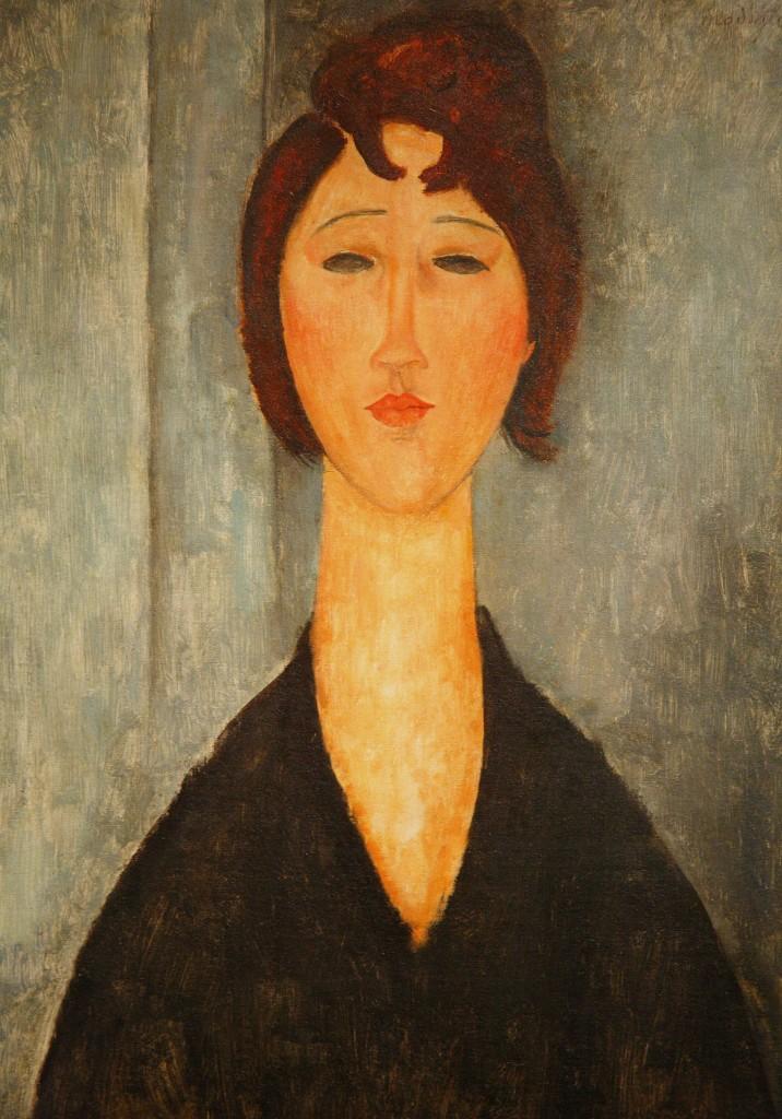 Amedeo Modigliani. Retrato de mujer joven, 1918
