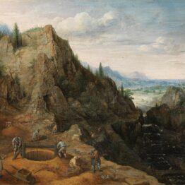 Lucas van Valckenborch. Paisaje con ferrerías (fragmento), 1595. Museo Nacional del Prado