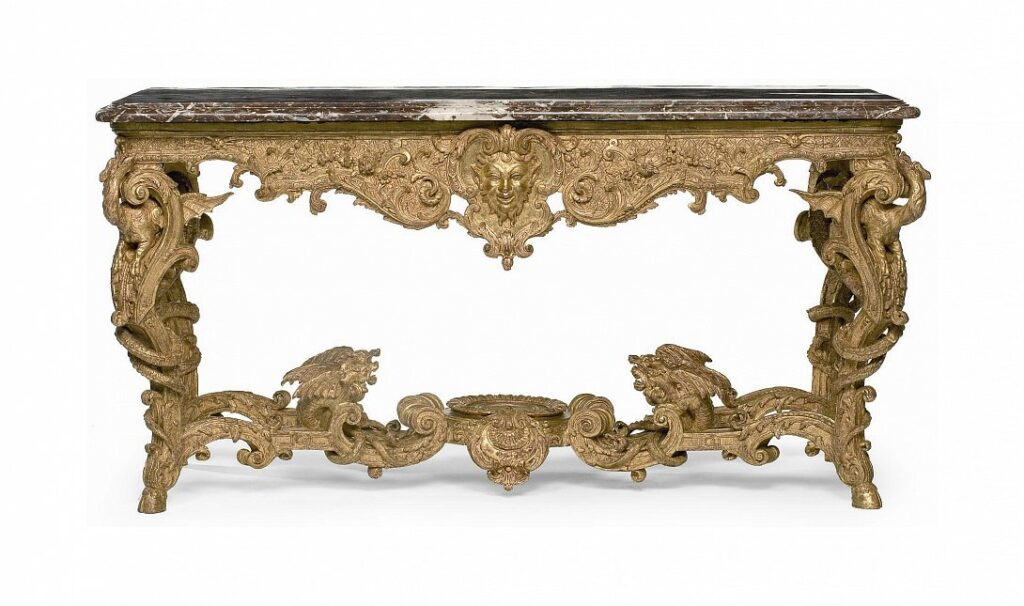Tabla-consola. París, hacia 1710-1720. Musée des Arts Décoratifs