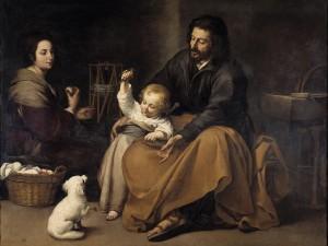 Murillo. Sagrada Familia del pajarito, hacia 1650. Museo del Prado