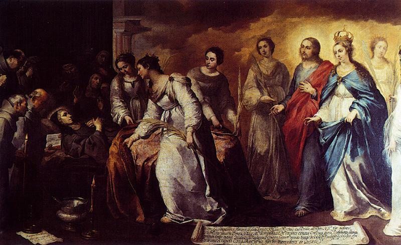 Murillo. Muerte de santa Clara, hacia 1645. Gemäldegalerie, Dresde