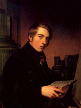 Johann Friedrich Overbeck. Autorretrato con Biblia, 1809