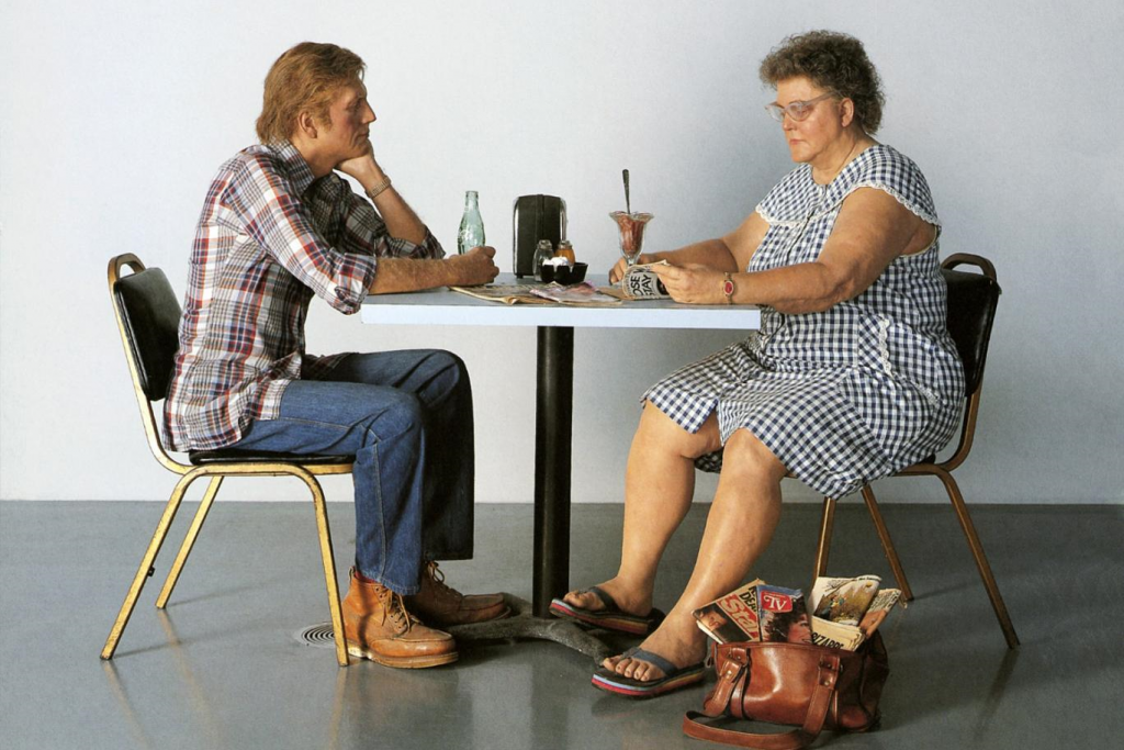 Duane Hanson. Self portrait with model, 1979