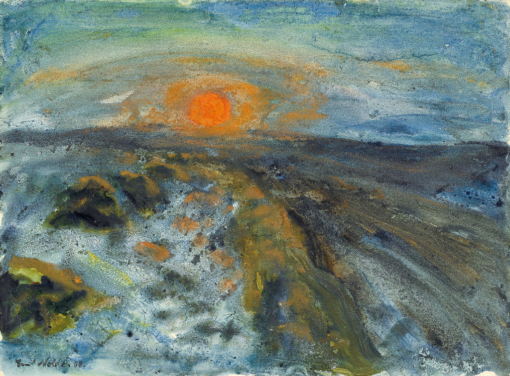 Emil Nolde. Sun over melting snow, 1908