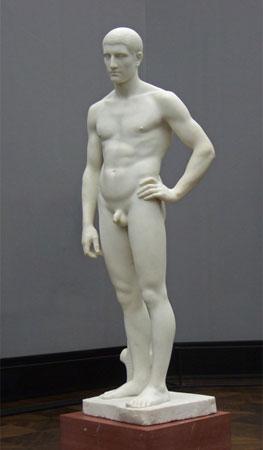 Adolf Hildebrand. Joven de pie, 1881-1884