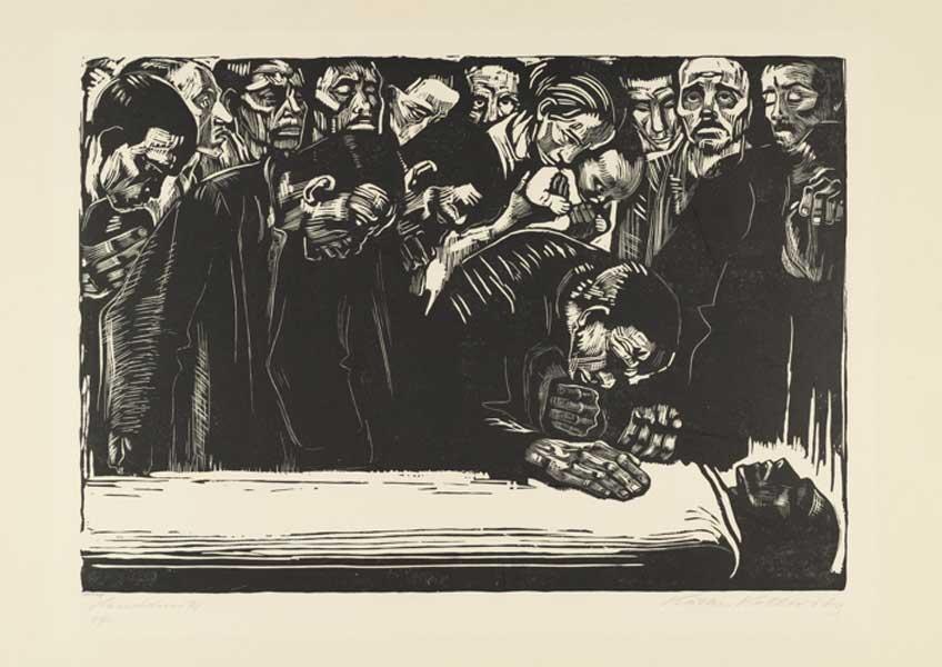 Käthe Kollwitz. In Memoriam Karl Liebknecht, 1920. MoMA