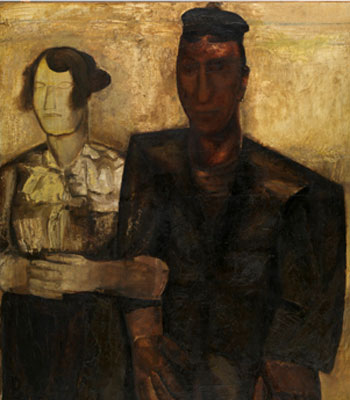 Constant Permeke. Los novios, 1923