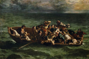 Eugène Delacroix. El naufragio del Don Juan, 1840. Museo del Louvre