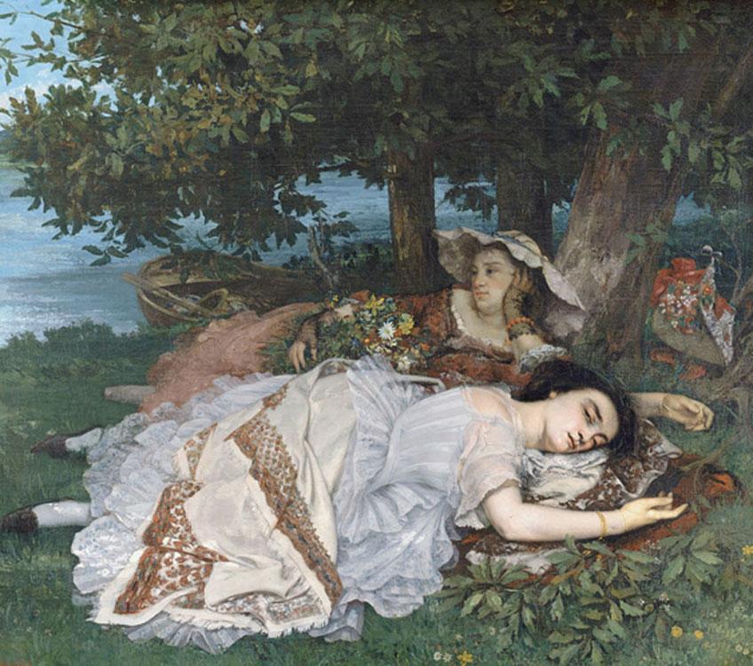 Courbet. Muchachas a orillas del Sena, 1856. Petit Palais, París