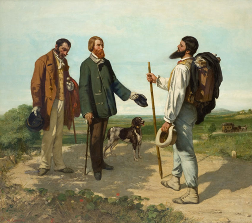 Courbet. Buenos días, señor Courbet, 1854. Musée Fabre, Montpellier