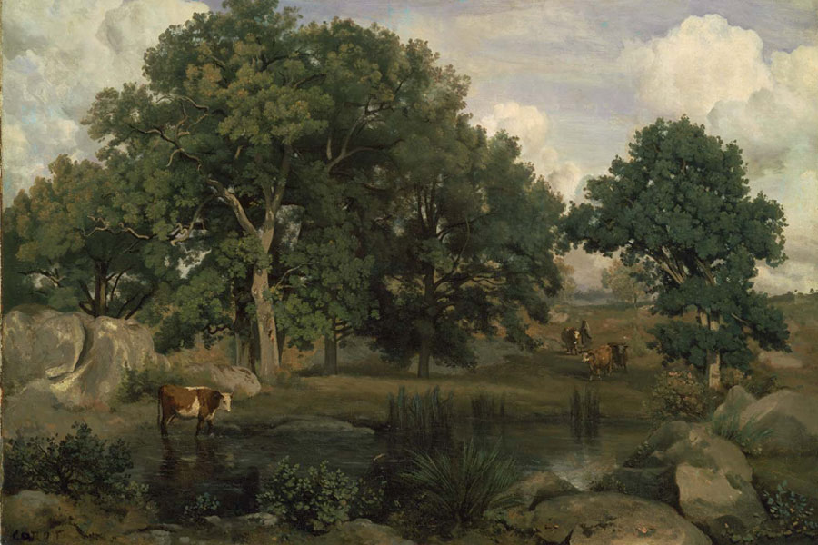 Corot. Bosque de Fontainebleau, 1846. Museum of Fine Arts, Boston