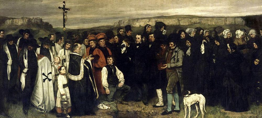 Gustave Courbet. Entierro en Ornans, 1849. Musée d´ Orsay